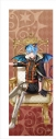 【グッズ-タペストリー】夢王国と眠れる100人の王子様 イベント衣装ロングタペストリー第2弾(太陽覚醒Ver.) 白と黒のタクティクス:イラ【アニメイトオンライン限定商品】の画像