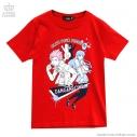 【グッズ-Tシャツ】ダンガンロンパ×LISTEN FLAVOR 桑田怜恩×舞園さやかTシャツ RED-Mの画像