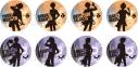 【グッズ-バッチ】TVアニメ『あんさんぶるスターズ!』トレーディングシルエット缶バッジAの画像
