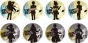 【グッズ-バッチ】TVアニメ『あんさんぶるスターズ!』トレーディングシルエット缶バッジBの画像