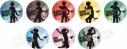 【グッズ-バッチ】TVアニメ『あんさんぶるスターズ!』トレーディングシルエット缶バッジCの画像