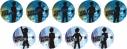 【グッズ-バッチ】TVアニメ『あんさんぶるスターズ!』トレーディングシルエット缶バッジEの画像