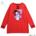 【グッズ-Tシャツ】らんま1/2×LISTEN FLAVOR らんまとPちゃんチャイナロンT REDの画像