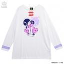 【グッズ-Tシャツ】らんま1/2×LISTEN FLAVOR らんまとPちゃんチャイナロンT WHITEの画像