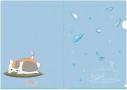 【グッズ-クリアファイル】夏目友人帳 描き下ろしお酒のおとも(枝豆)A4クリアファイルの画像