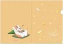 【グッズ-クリアファイル】夏目友人帳 描き下ろしお酒のおとも(餃子)A4クリアファイルの画像