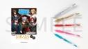 【グッズ-ボールペン】アルゴナビス from BanG Dream! サラサクリップカラーボールペン 5本セット GYROAXIAの画像