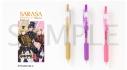 【グッズ-ボールペン】ツキウタ。THE ANIMATION2 SARASAクリップ カラーボールペン 3本セット 冬組ver.の画像