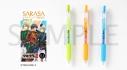 【グッズ-ボールペン】ツキウタ。THE ANIMATION2 SARASAクリップ カラーボールペン 3本セット 春組ver.の画像