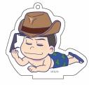 【グッズ-キーホルダー】おそ松さん ごろりんアクリルキーホルダー(水着ver.) (2)カラ松の画像