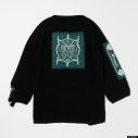 【グッズ-Tシャツ】『ディズニー ツイステッドワンダーランド』 TW Oversized Knit Tops GRN Mの画像