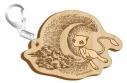 【グッズ-キーホルダー】ポケットモンスター セピアグラフィティ 木製キーホルダー オーバーザムーン【再販】の画像