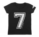 【グッズ-Tシャツ】アイドリッシュセブン アイドリッシュセブン ガールズカットソー ブラック GIRL's L【再々販】の画像