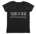 【グッズ-Tシャツ】アイドリッシュセブン TRIGGERガールズカットソー ブラック GIRL's S【再々販】の画像