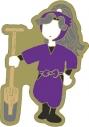 【グッズ-ピンバッチ】忍たま乱太郎 アニメ版・ピンズ ゆるパレット 綾部喜八郎 OS記念【再販】の画像