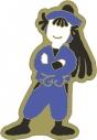【グッズ-ピンバッチ】忍たま乱太郎 アニメ版・ピンズ ゆるパレット 尾浜勘右衛門 OS記念【再販】の画像