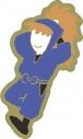 【グッズ-ピンバッチ】忍たま乱太郎 アニメ版・ピンズ ゆるパレット 鉢屋三郎 OS記念【再販】の画像
