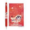 【グッズ-ボールペン】『ヒプノシスマイク SANRIO NAKAYOKU EDIT』 サラサクリップ0.5ジェルボールペン(山田三郎×ポムポムプリン)【再販】の画像