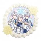 【12月19日発送分・DB01】「夢王国と眠れる100人の王子様」クリスマスケーキ(雪の国)