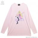 【グッズ-Tシャツ】ニューダンガンロンパ V3×LISTEN FLAVOR 入間美兎ビッグカットソー BABY PINK-Freeの画像