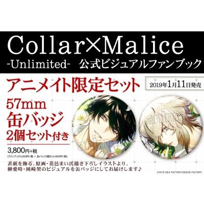 Collar×Malice -Unlimited- 公式ビジュアルファンブック アニメイト限定セット【缶バッジ2個セット(柳愛時、岡崎契)付き】