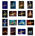 【グッズ-ブロマイド】ライブ・スペクタクル 「NARUTO-ナルト-」~暁の調べ~ 舞台写真ブロマイド全部セット(特典:C 暁)の画像
