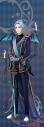【グッズ-タペストリー】夢王国と眠れる100人の王子様 イベント衣装ロングタペストリー第3弾(月覚醒Ver.) 光と闇のウェディング:イラの画像