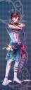 【グッズ-タペストリー】夢王国と眠れる100人の王子様 イベント衣装ロングタペストリー第3弾(月覚醒Ver.) Sparkling Night:ロッソの画像