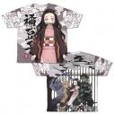 【グッズ-Tシャツ】鬼滅の刃 竈門禰豆子 両面フルグラフィックTシャツ/Lの画像