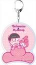 【グッズ-キーホルダー】特価 おそ松さん×Sanrio Characters デカキーホルダー トド松×マイメロディ Bの画像