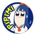 【グッズ-バッチ】ポプテピピック てくトコ缶バッチ/ピピ美の画像