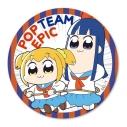 【グッズ-バッチ】ポプテピピック てくトコ缶バッチ/ポプ子&ピピ美の画像