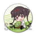 【グッズ-バッチ】おちこぼれフルーツタルト ぎゅぎゅっと缶バッジ/緑 へもの画像