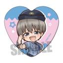 【グッズ-バッチ】宇崎ちゃんは遊びたい! ハート缶バッジ/宇崎 花(警察官A)の画像