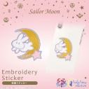 【グッズ-ステッカー】美少女戦士セーラームーン 刺繍ステッカー うさぎのお布団柄の画像