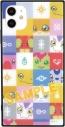 【グッズ-カバーホルダー】デジモンアドベンチャー: iPhone 11/XR 対応 スクエアガラスケース ブロック柄の画像