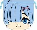 【グッズ-巾着】Re:ゼロから始める異世界生活 にいてんごフェイス巾着袋 レムの画像