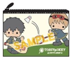 【グッズ-ポーチ】銀魂×Sanrio characters TOSSY&OKKY×PATTY&JIMMY フラットポーチ