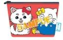 【グッズ-ポーチ】銀魂×Sanrio characters SADA AND ELLY×ハローキティ 相良刺繍ポーチの画像