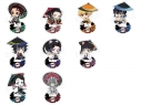 【グッズ-スタンドポップ】鬼滅の刃 ぺたん娘トレーディングアクリルスタンド -和傘-の画像