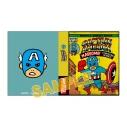 【グッズ-メモ帳】マーベル・コミック MARVEL COMIC STYLE MEMO BOOK/キャプテン・アメリカの画像