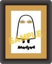【グッズ-バッチ】とーとつにエジプト神 コマコレ/スタンド付バッジ メジェド神の画像