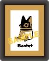 【グッズ-バッチ】とーとつにエジプト神 コマコレ/スタンド付バッジ バステト神の画像