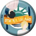 【グッズ-バッチ】BANANA FISH 缶バッジ/NYC STATEN ISLAND Liberty Plateの画像
