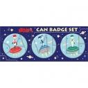 【グッズ-バッチ】おそ松さん 缶バッジセット/ゆるパレット F6 おそ松&カラ松&チョロ松の画像