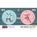 【グッズ-バッチ】TIGER & BUNNY 缶バッジセットD/ゆるパレット 虎徹&バーナビーの画像