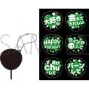 【グッズ-コスプレアクセサリー】くまめいと ぬい用ファンサうちわ/緑の画像