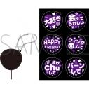 【グッズ-コスプレアクセサリー】くまめいと ぬい用ファンサうちわ/紫の画像