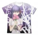 【グッズ-Tシャツ】特価 劇場版 Fate/stay night[Heaven's Feel] 間桐桜フルグラフィックTシャツ WHITE Lの画像