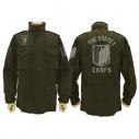 【グッズ-ジャンパー・コート】進撃の巨人 調査兵団エンブレム M-65ジャケット MOSS-XLの画像